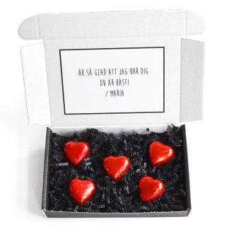 Skicka chokladhjärtan