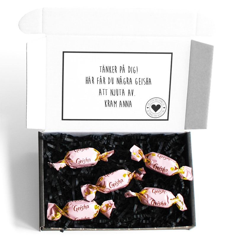 Skicka choklad med posten